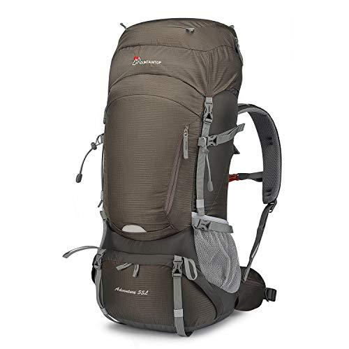 MOUNTAINTOP 55L Trekkingrucksäcke mit Regenhülle für Reisen Outdoor Klettern Camping