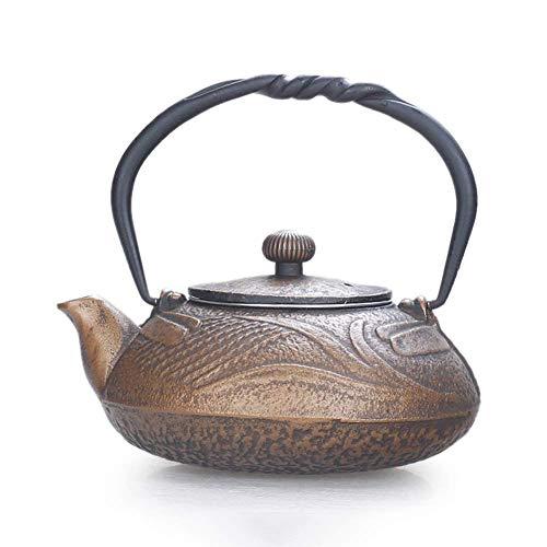 Tetera infusor de cerámica pequeña de hierro fundido con filtro de acero inoxidable para té de hojas sueltas, tetsubina saludable como regalo taza de oro de 500 ml dongdong hueso China taza TNSYGSB