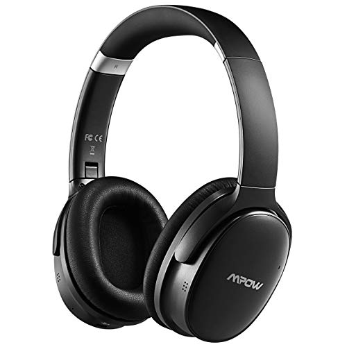Mpow H10 Hybrid Active Noise Cancelling Headphones, Bluetooth Headphones Over Ear with Microphones, Hi-Fi Deep Bass, Memory-Protein Earmuffs, 30H Playtime for Kids, Adults, Online Class, Home Office