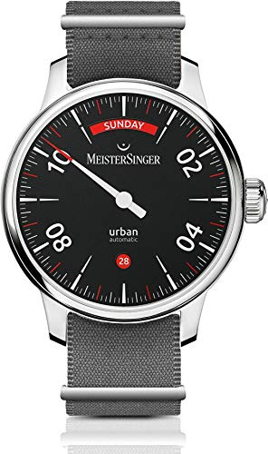 MeisterSinger Urban Day Date URDD902 Reloj automático con sólo una aguja