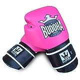 Guantes de Boxeo Muay Thai Kick Boxing Buddha Colors (10 Onz, Rosa)