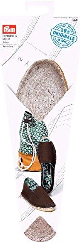 Prym–Alpargatas para Suela de Tejido patrón de Costura con Base de Goma, Paja/de Yute, Color Natural, tamaño de UK 7, EU Talla 41, 1par
