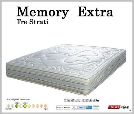 Ergorelax Materasso Memory Mod. Extra Waterlily Zone Differenziate Sfoderabile singolo - 80 cm x 200 cm