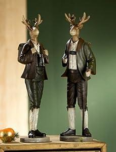 Dekofiguren 'Alpenlook', 2-teiliges Set, 48 cm, mehrfarbig