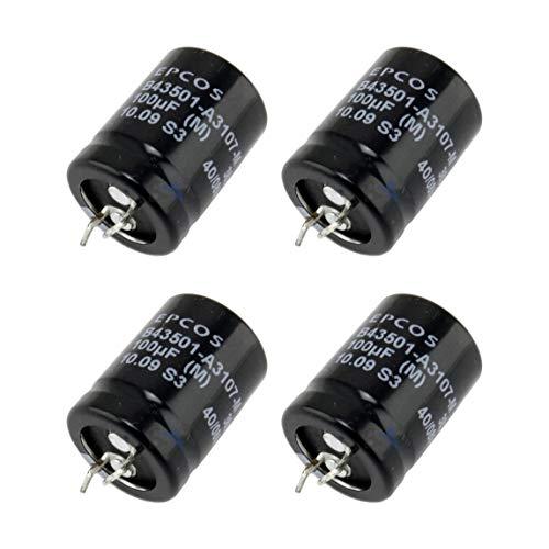4 pcs 100uF 385V Condensatore Elettrolitico EPCOS -40°C +85°C Long-Life Basso ESR Terminali Snap-IN Condensatori Elettrolitici