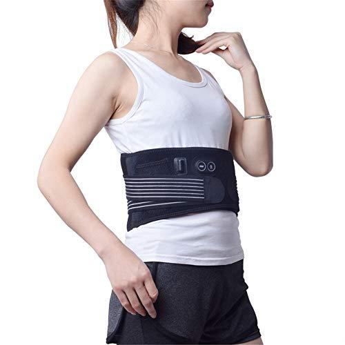Protector de cintura calefactable Cinturón cálido, Terapia eléctrica de la cintura del cojín de calefacción Cinturón de masaje climatizada lumbar ajustable Brace Wrap 3 Ajustes de calor masaje