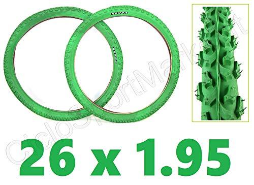 KENDA CICLOSPORTMARKET 2 x Copertone 26 X 1.95 Verdi Bici Mountain Bike/MTB - Consegna 24 Ore