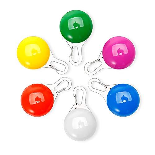 Omasi 6 Pcs Sicherheits Clip-On LED Blinklicht für Hunde, Katzen, LED Licht Leuchtanhänger Schlüsselanhänger 3 Blinkmodis auch für Kinder, Läufer, Jogger, Walker, Fahrradfahrer, Outdoor