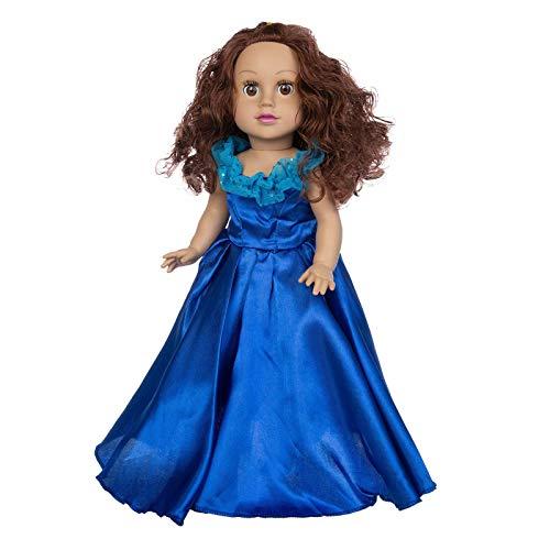 Princess Wedding Dolls, Hermosas muñecas de Pelo Rizado para niños Muñecas de Vinilo con Cabello Muñecas de bebé realistas con Cabello Largo Muñeca Hecha a Mano de Juguete para bebés 45CM, para Regal