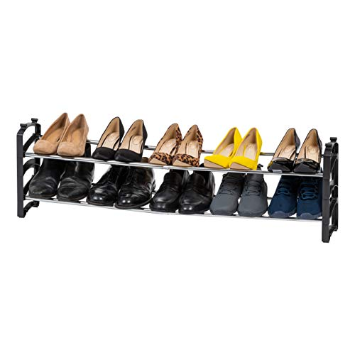 IRIS USA ESR-2 Metal Shoe Rack, 2-Tier, Slim