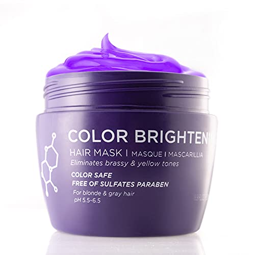Luseta Purple Hair Mask 16.9 Oz, Deep Conditioner - Biotin, Hydrolyzed Collagen & Keratin - Neutralizes Unwanted Yellow Tones and Removes Brassine, for Blond and Gray hair, Sulfate & Paraben Free
