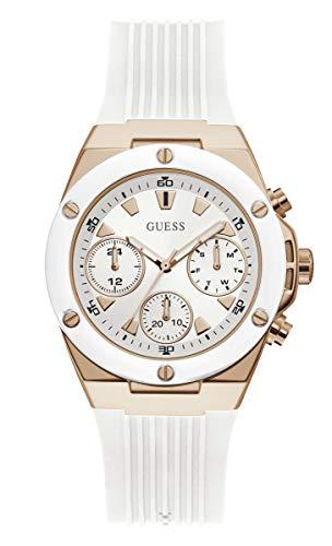 GUESS Women's Analog Quartz Watch with Silicone Strap GW0030L3