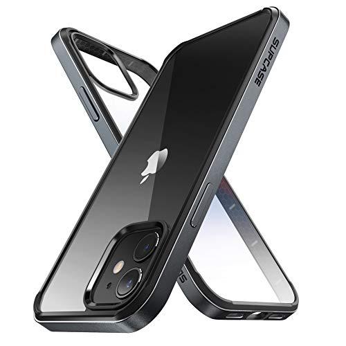 SUPCASE Cover per iPhone 12 / iPhone 12 Pro (2020) 6.1 pollici, Protezione Ultra Sottile sul Retro Trasparente [Unicorn Beetle Edge] con Paraurti Interno Antiurto in TPU (Nero)