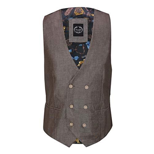 Xposed - Chaqueta de lino para hombre (mezcla de algodón), estilo retro