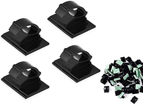 ZHjuju plástico Hilo Cable Clip, 30 Piezas Clips de Cable Adhesivo, Clips de Cable Adhesivos, Sujetacables de Alambre,...