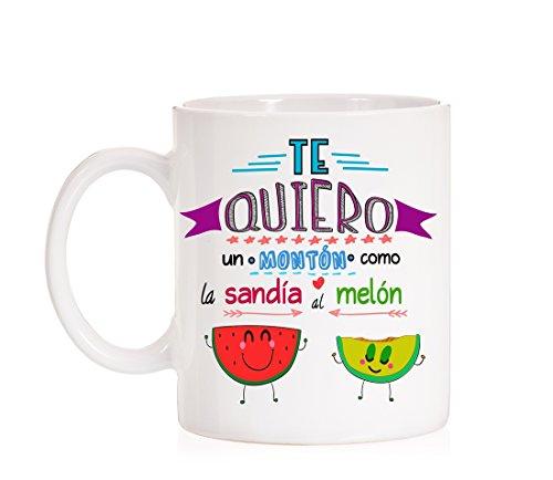 MardeTé Taza Te Quiero un montón como la sandía al melón. Taza...