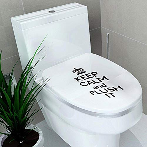 Wc-stickers Sokkel Pan Cover Sticker WC-kruk Commode-sticker Badkamer Decor 3D-gedrukte Flower View Letters Home Decoratio, f