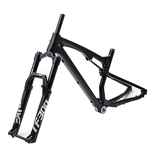 """MEILINL Horquilla de Bicicleta 27,5"""" 29"""" Air Rebound MTB Horquilla de suspensión de Bicicleta Viajes 160 mm Tubo cónico amortiguación Ajustable/Bloqueo hidráulico"""