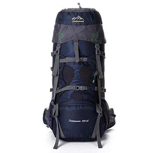 SZH&BEIB Sac à dos de randonnée très grande capacité 70 + 5L pour le sac de camping Voyage en plein air en nylon imperméable , F