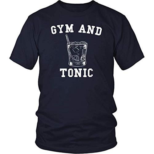 Gym and Tonic T-Shirt Drinking Tshirt Front Print T Shirt For Men and Women