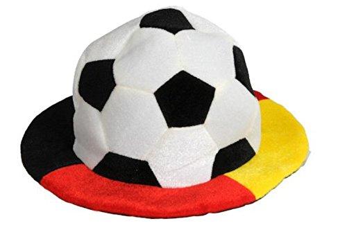 HAAC Fan Hut Ball Plüsch Fußballhut in Deutschlandsfarben Deutschland Fußball 2014