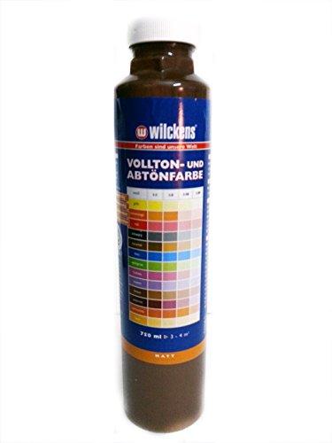 Qualitäts Abtoenfarbe - Volltonfarbe / 750 ml/matt - 14 Farben zur Auswahl (Braun)