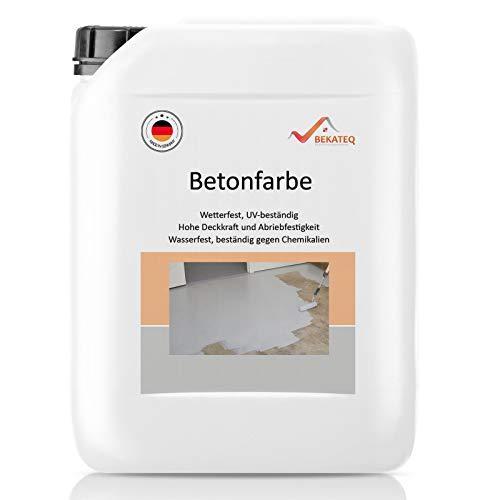 BEKATEQ BE-700 5L Betonfarbe Bodenfarbe Bodenbeschichtung Betonbeschichtung Garagenboden Garagenbeschichtung (Betongrau)