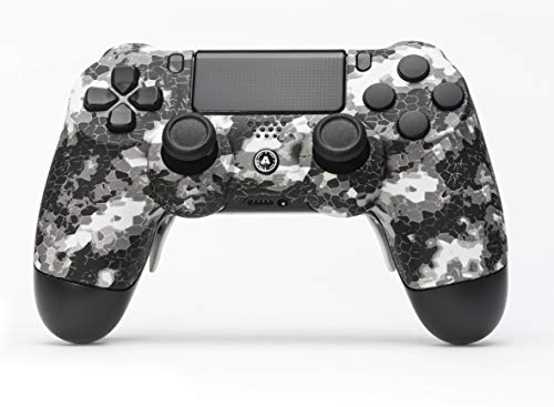 AimControllers PS4 Custom Wireless Controller, PlayStation 4 Personalized Gamepad with 4 Paddles, DigiCamo White [video game] [video game]