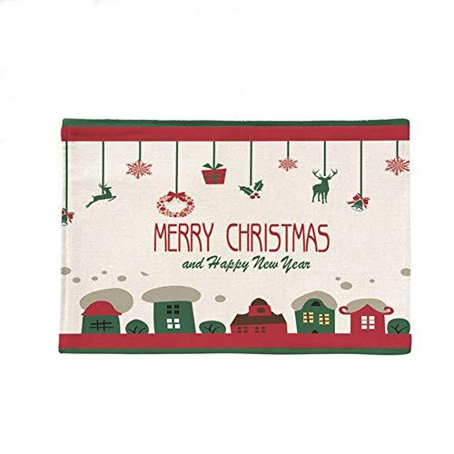 Scrox 1x Navidad Decoracion Mesa salvamanteles Manteles Aislamiento Gadgets Cocina Copas de Vino Platos Lino Estera...