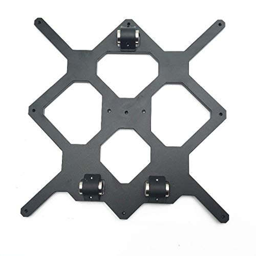 Daoluogan 3D Printer Aluminum Y Carriage With 3pcs Nylon Clips, Heat Bed DIY Support Mount Plate For Prusa I3 3D Printer Parts (Size : Only Carriage Plate)