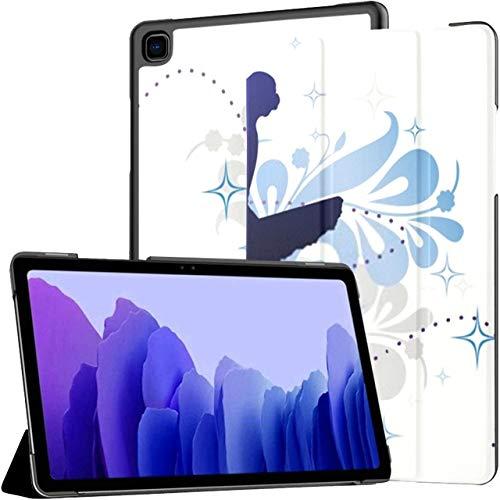 Funda para Samsung Galaxy Tab A7 Tableta de 10,4 Pulgadas 2020 (sm-t500 / t505 / t507), Mujer Baila Bailarina ilustración Vectorial Funda con Soporte de ángulo múltiple con activación/suspensión au