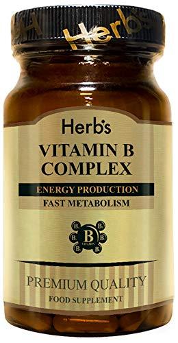 Vitamin B Complex + Folic Acid 120 Tablets | Herb's | Premium Quality