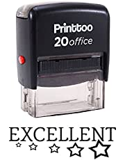 Printtoo Office Stationary Custom Stamp EXCELLENT Self Inking Rubber Stamp- Ink Colour Available