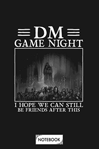 Dm Game Night Notebook: Lined College Ruled Paper, Planner, Matte Finish Cover, Diary, 6x9 120 Pages, Journal