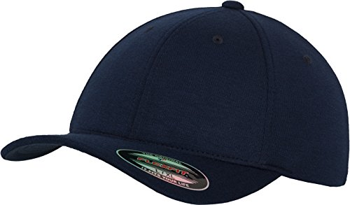 Flexfit Erwachsene Mütze Double Jersey, Navy, S/M