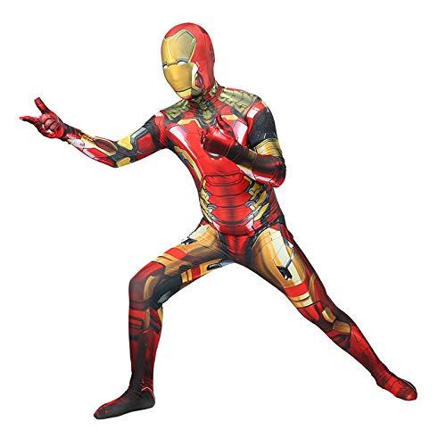 LINLIN Unisex Iron Man Mono Superhero Cosplay Traje de Halloween Unisex Muchachos de Las Muchachas del Vestido de Lujo Apretado Lycra Spandex de impresin en 3D Body,Red- Kid XL 145~155cm