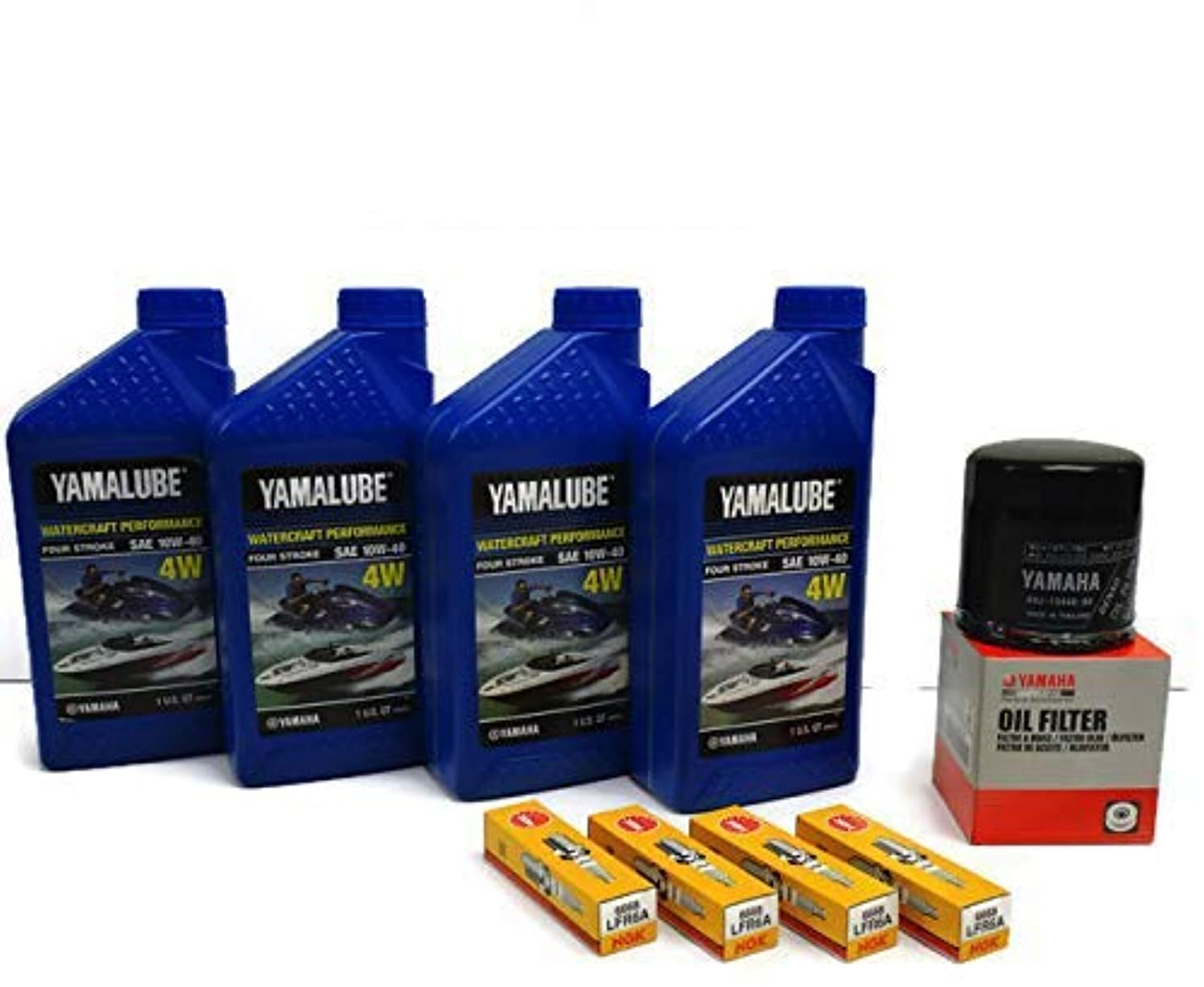 YAMAHA SVHO 1.8L WaveRunner Oil Change Kit w/Filter FX-SVHO FZR-SVHO FZS-SVHO GP1800 GP1800R 69J-13440-03-00 NGK Spark Plugs Maintenance Kit