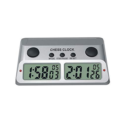 Reloj de ajedrez y temporizador de juego - Temporizador de ajedrez digital profesional Temporizador de cuenta regresiva con reloj - Para juegos de mesa y cronometraje