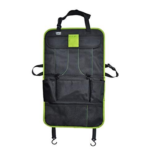 Sac de Rangement pour Voiture Siège arrière Sacoche pour siège arrière Utilitaire Boîte de Rangement arrière Multifonction Sac de Rangement pour Accessoires Divers (Color : Green)
