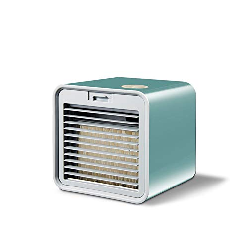 SETSCZY Portable Mini Air Conditioner Fan Personal Space Air Cooler Purifier Humidifier USB Air Cooling Fan for Home Office,Green