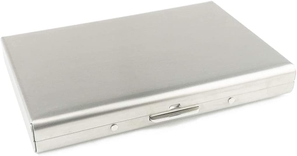 Metal Card Holder Steel Wallet Blocking Rfid Protector Case security Austin Mall