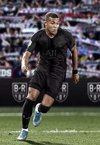 BGFDV Copa del Mundo Jugador de fútbol Messi Equipo Uniforme Negro póster impresión Lienzo Pintura impresión Art Deco Pintura Regalo