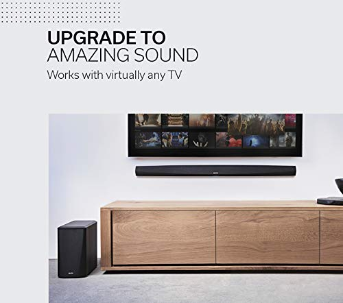 Denon DHT-S516H Home Theater Slim Soundbar System with Wireless Subwoofer | Bluetooth & HEOS | Amazon Alexa Compatibility | Quick Setup - All Cables Included | Wall-Mountable | Black