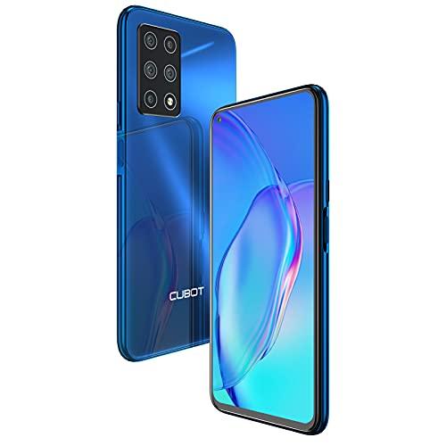 CUBOT X30 Smartphone 4G sin contrato, 8 GB de RAM + 128 GB, pantalla Fullview de 6,4 pulgadas, 5 cámaras de 48 MP + 32 MP, batería de 4200 mAh, Android 10, Dual SIM, NFC (azul)