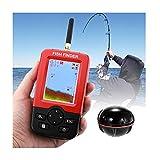 Buscador de Peces inalámbrico Buscador de Peces de Kayak portátil de Mano Buscador de Profundidad de Peces Sensor de sonda Transductor para Barco Pesca Pesca en el mar
