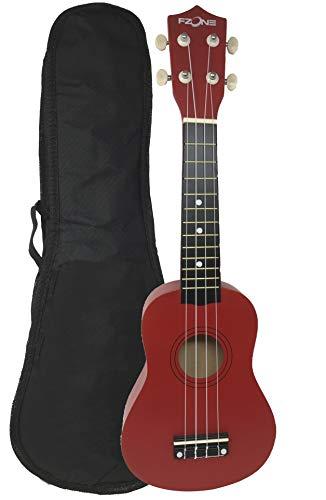 Ukelele soprano FZone UK02SB-RD con funda en color rojo - rockmusic