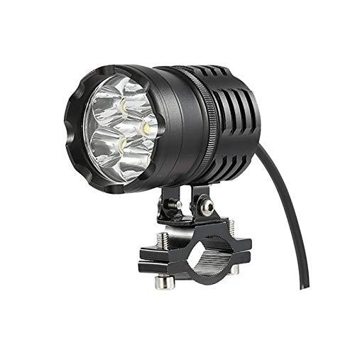 80W 3200LM 6500K 6 LED Motocicleta Motocicleta Manchas de la luz de la luz de la Cabeza de la Cabeza de la Cabeza de la luz de la luz de la luz de la Cabeza con el Interruptor
