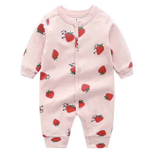 Baby Strampler Overall Baumwolle Schlafanzug Spielanzug Body Spieler Jungen Mädchen Cartoon Doppelschicht Babykleidung