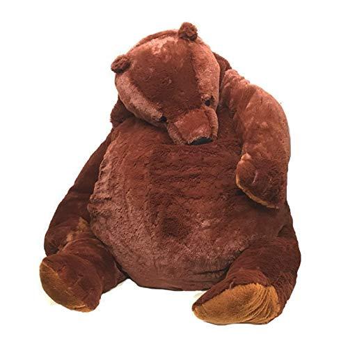 Almohada XYBB Oso de Peluche Suave de 100 cm, Juguetes de Peluche, Oso marrón Oscuro, Almohada súper Grande para abrazar, cojín de Animales, Regalo de cumpleaños para niños, marrón