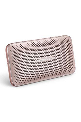 Harman Kardon ESQUIRE Mini2 ワイヤレスポータブルスピーカー Bluetooth/モバイルバッテリー機能/2200mAhバッテリー/USB Type-C/デュアルマイク/ノイズキャンセリング ローズゴールド【日本正規代理店品】